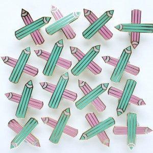 society-of-crossed-pencils-secret-society-for-stationary-addicts-enamel-pin-by-and-smile-pins