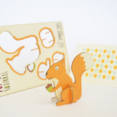 Squirrel - made - pop out card