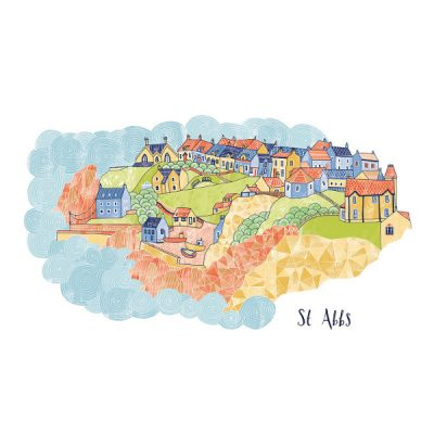 St Abbs by Eilidh Muldoon at The Red Door Gallery