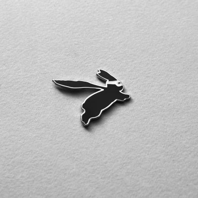 Superhero Bunny Enamel Pin by HamMade
