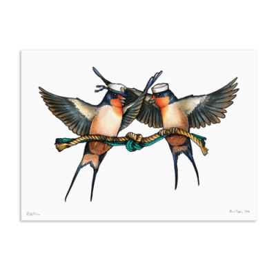 Swallows by Birds in Hats at The Red Door Gallery