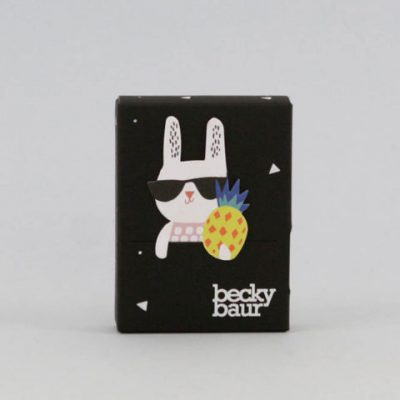 becky baur x noodoll paper tape with bookmark