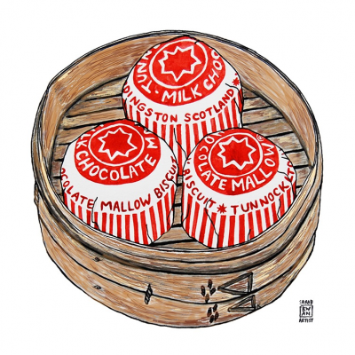 Teacake Dim SUm Greetings Card