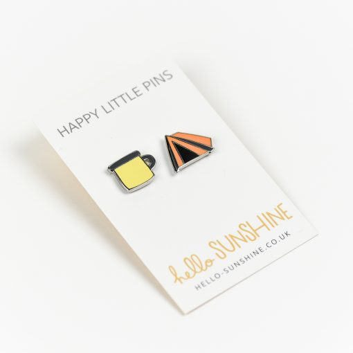 Tea And Tents Adventure Pin set by Hello Sunshine