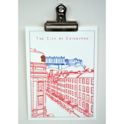 The City Of Edinburgh Print by Poppy Kilby for ECA Student Project set by Nicky Brooks Curator