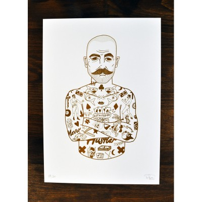 The Hustler print by Rich Fairhead A3