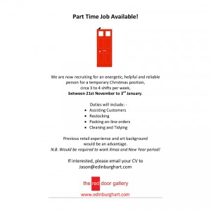 The Red Door Gallery Job Available 2015