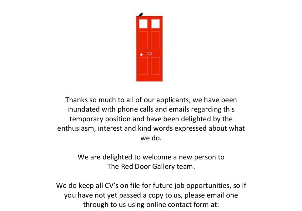 Part Time Job Vacancy Filled