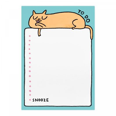 To Do Snooze Cat Notepad