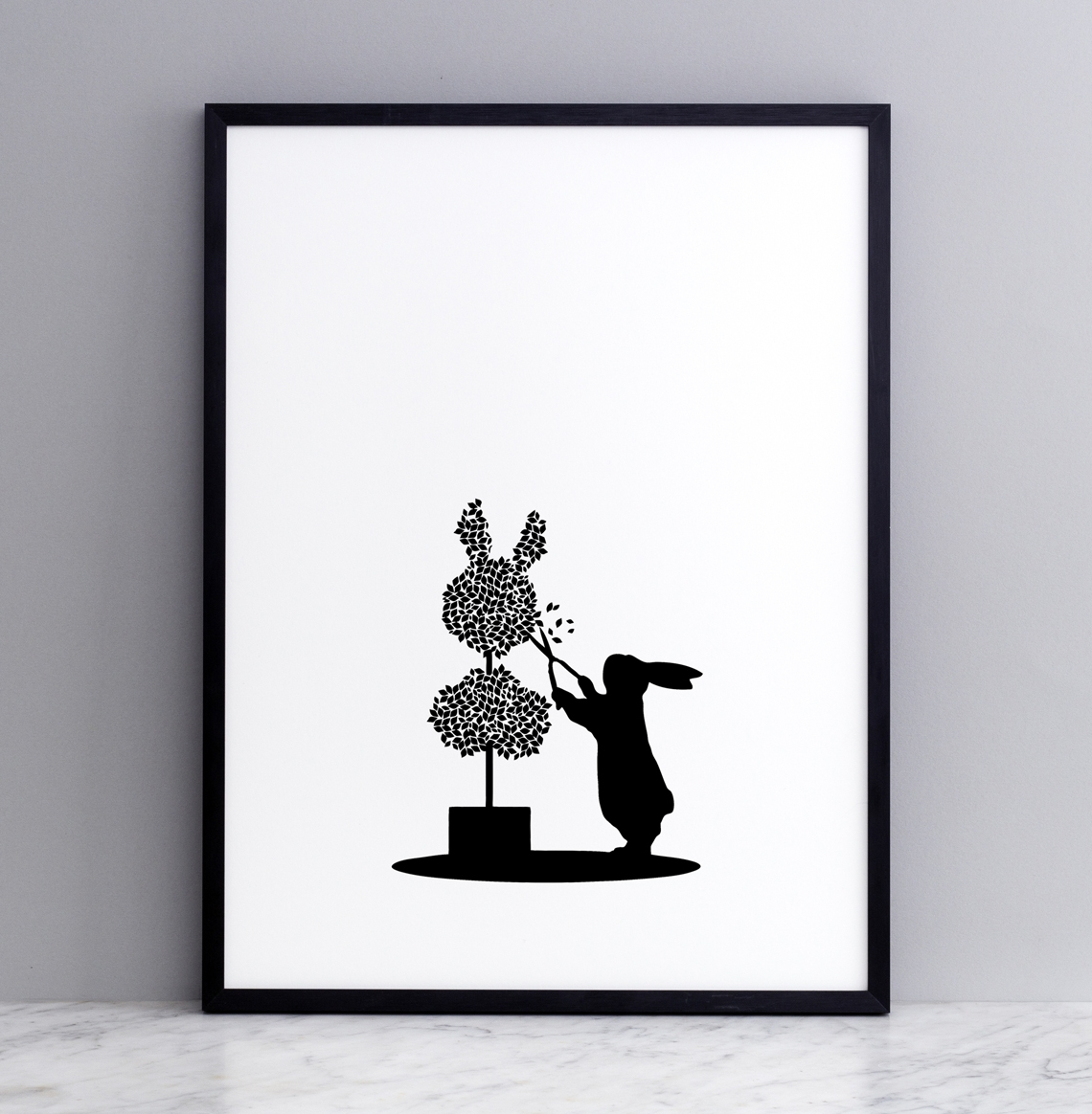 Topiary Rabbit Print - Framed Prints (approx A3 Size), Screen Prints ...