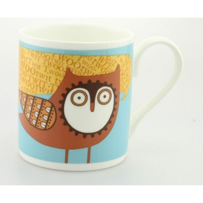 Twit Twoo Owl Mug by Alice Melvin