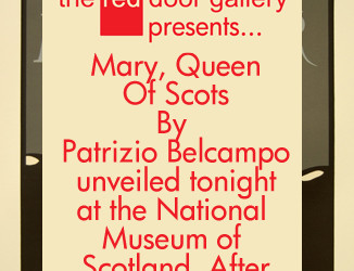 Unveiling of Mary, Queen of Scots by Patrizio Belcampo @NtlMuseumsScot #edfringe #nmsafterhours