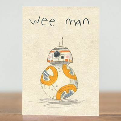 Wee Man BB8 card