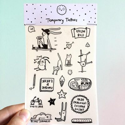 Weird Club Temporary Tattoos