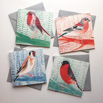 When birds align greeting card set