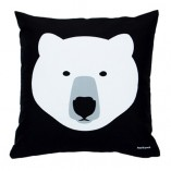White Bear Black Bear Cushion