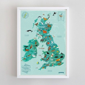 Wildlife of the British Isles Map