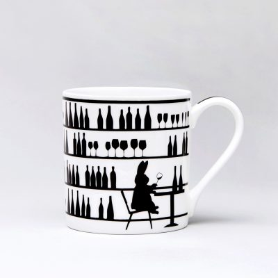 Wine Tasting Rabbit Mug front