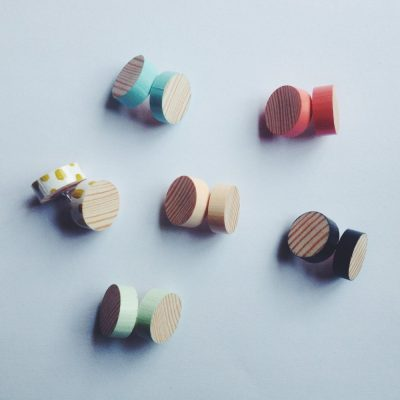 Wood Grain Earrings Various Colours