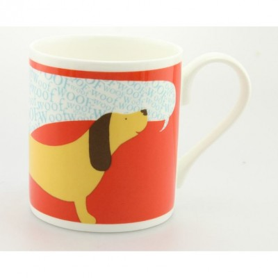 Woof Woof Dog Mug by Alice Melvin