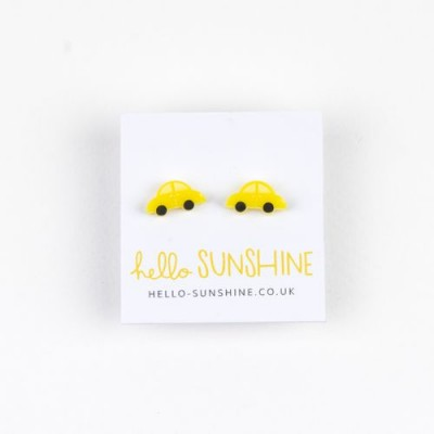 Yellow Car Earrings
