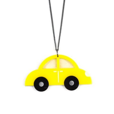 Yellow Car Necklace