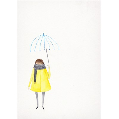 Yellow Rain by Claire Fleck