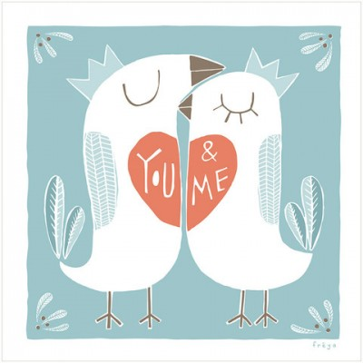 You and Me Birds print by Freya