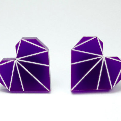 Zeal Etch Earrings Purple