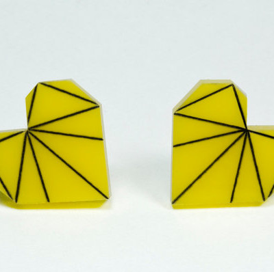 Zeal Etch Earrings Yellow