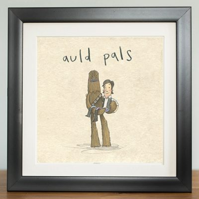auld pals chewbacca chewie han solo digital print by The Grey Earl, Stars are Braw, Star Wars