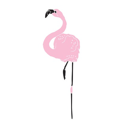 big flamingo by susie wright