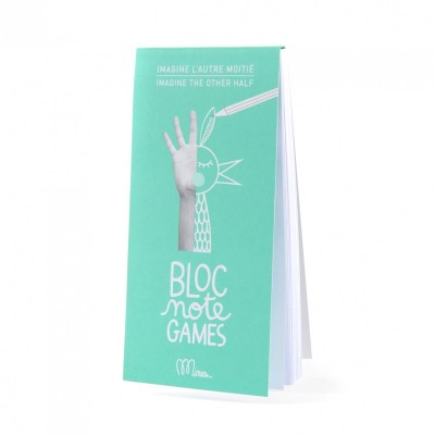 Bloc Note Games, Activity Book, Kids, Minus Editions, Fun, Imagine The Other Half