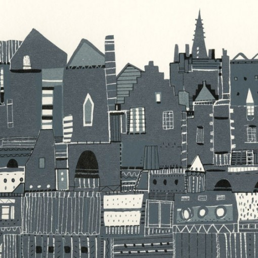Edinburgh, Roof tops, Colourful Rooftops, Susie Wright, Edinburgh Views, Edinburgh Art