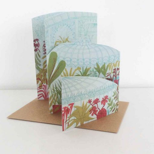 glasshouse, concertina, card, botanics, plants, east end press