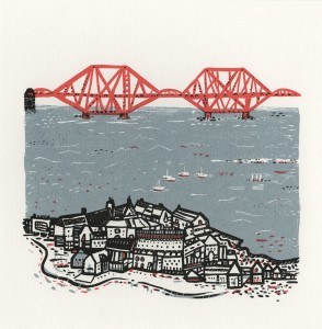 Forth Rail Bridge, Susie Wright, Iconic Structure, Scottish Landmark, Edinburgh, South Queensferry, Sea, Edinburgh Art, our fair city