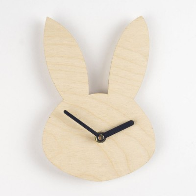 bunny clock, rabbits, wooden bunny, laser etched, brown bunny, hello sunshine