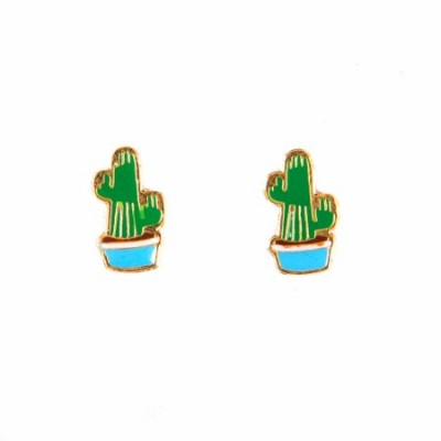 cacti earrings, enamel jewellery, acorn and will,cacti, cactus, prickly