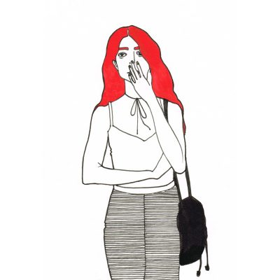 charlotte -print by Lindsey Brown at The Red Door Gallery