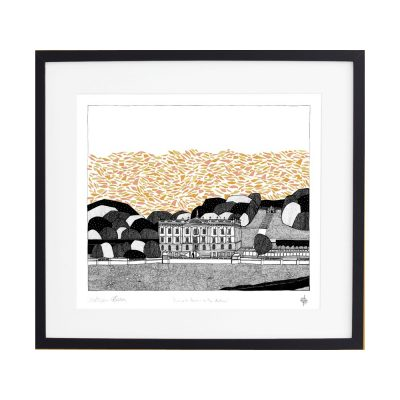 chatsworth house, countryside views, screen print, georgia bosson, cecily vessey