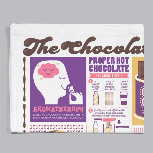 chocolate, tea towel, chocoholic, confectionery, stuart gardiner