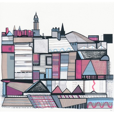 colourful roofs by susie wright