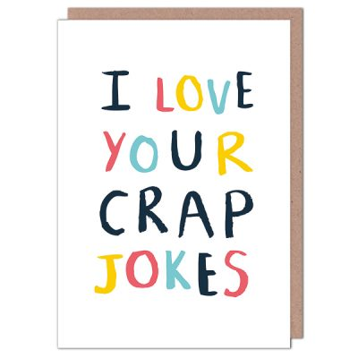 crap jokes card