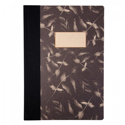 dark leaf, rose leaf jotter, ohh deer, susan castillo, copper foil, Notebook, A4