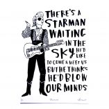 star man, david bowie, music, ziggy stardust, screen print, charlotte farmer