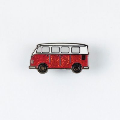 Festive Campervan Pin