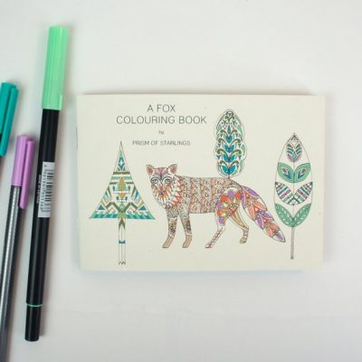 fox colouring book