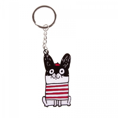 Frenchie Key Ring
