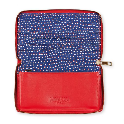 Blue and Red Speckled Wallet by Atomic Soda