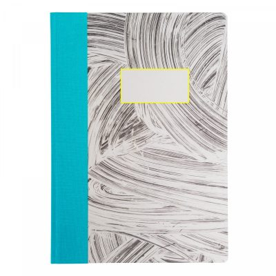 Grey Brush A4 Quarterbound Notebook by Ohh Deer